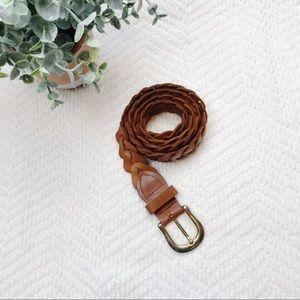 Vintage Capezio • Braided Genuine Leather Belt